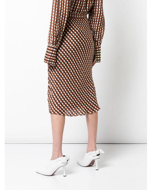 PROENZA SCHOULER WHITE LABEL スリップスカート Multicolor