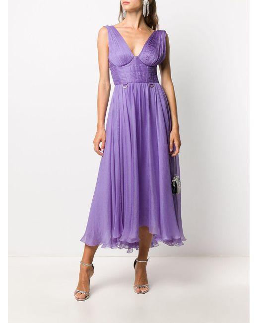 Maria Lucia Hohan Sorena マキシドレス Purple