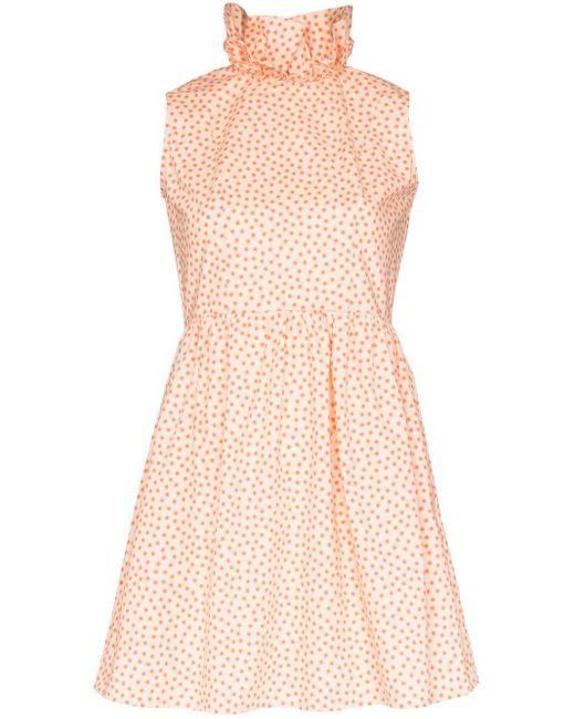 BATSHEVA Prairie ラッフルカラー ミニドレス Pink