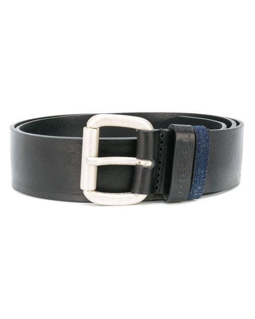 Cintura con fibbia di DIESEL in Black da Uomo