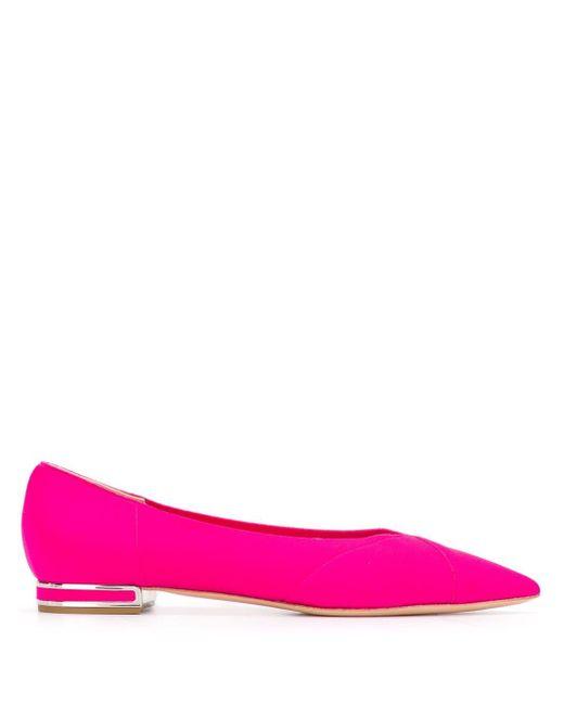 Casadei ポインテッドトゥ フラットパンプス Pink