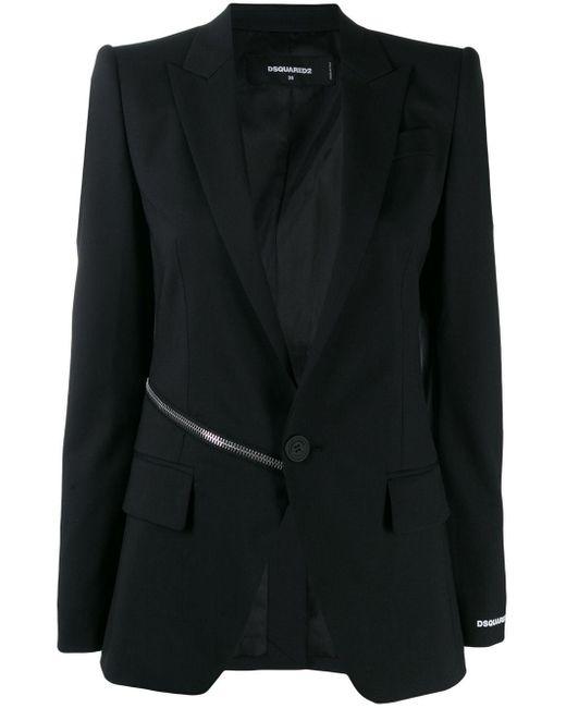 DSquared² ジップディテール ジャケット Black
