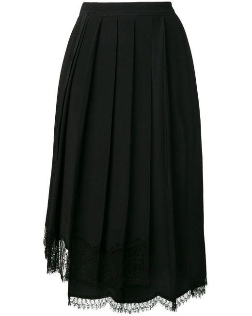 N°21 プリーツスカート Black
