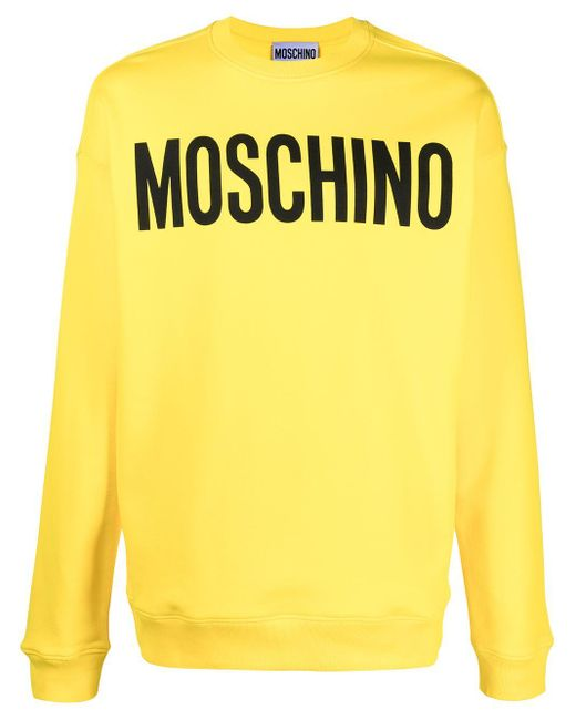 Толстовка С Длинными Рукавами И Логотипом Moschino для него, цвет: Yellow