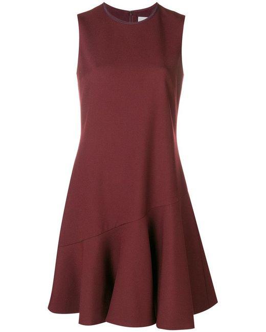 Victoria, Victoria Beckham - Short Flared Dress - Lyst