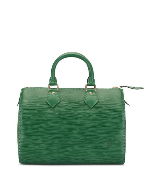Louis Vuitton Green 1995 Speedy 25 Tote