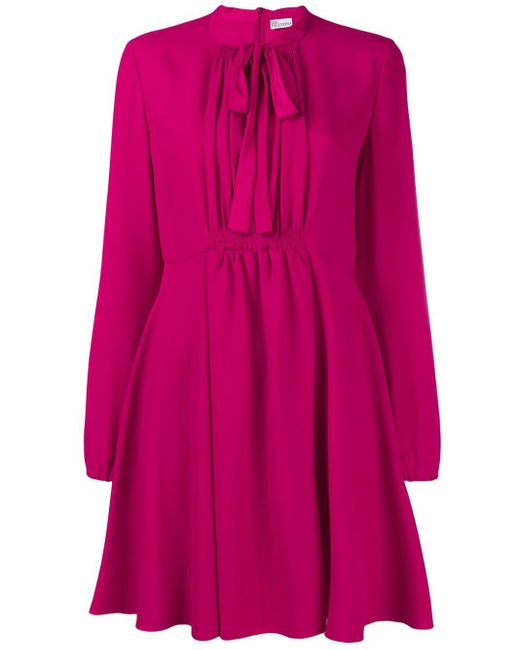 RED Valentino リボンネック ワンピース Pink
