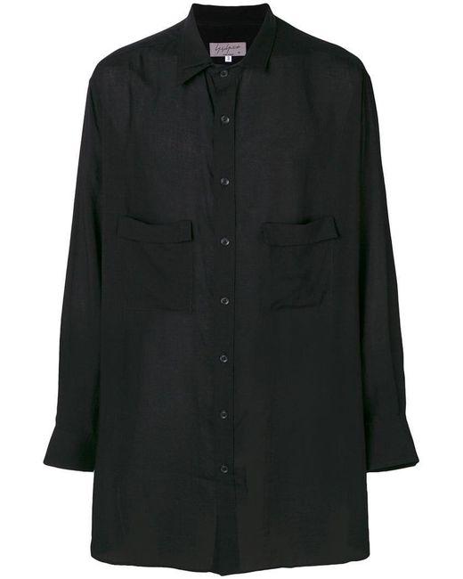Yohji Yamamoto - Black Long Shirt for Men - Lyst