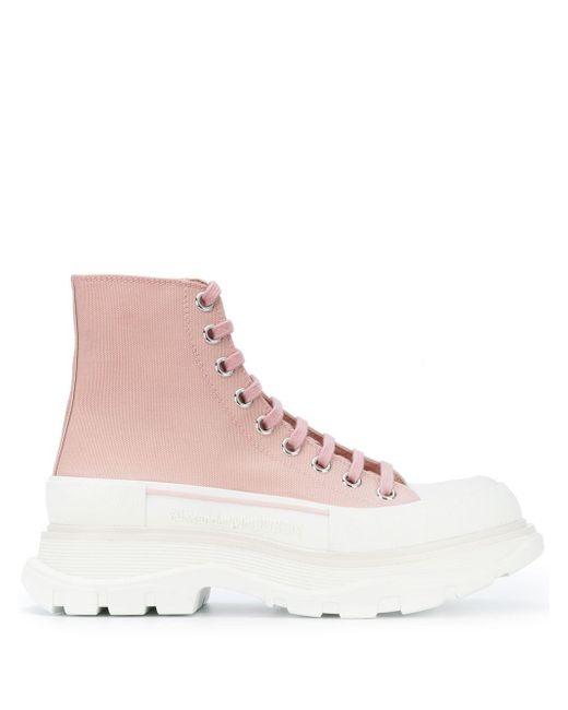 Alexander McQueen Tread Slick Boot Pink