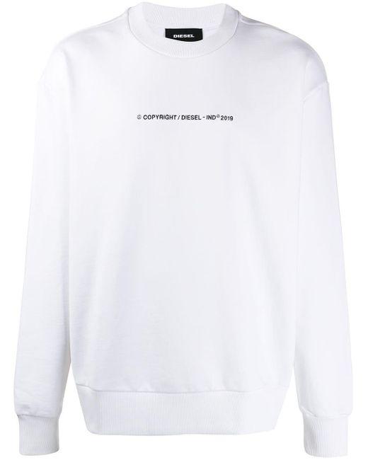 メンズ DIESEL ロゴ スウェットシャツ White