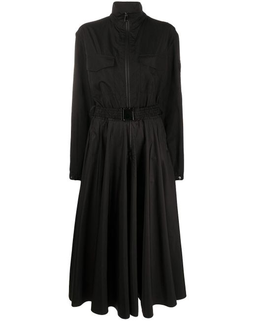Moncler ベルテッド ドレス Black
