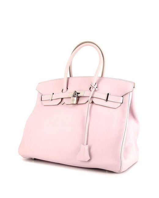 Hermès プレオウンド バーキン 35 ハンドバッグ Pink
