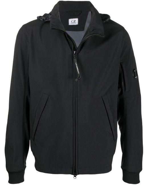 メンズ C P Company ロゴ ジップジャケット Black