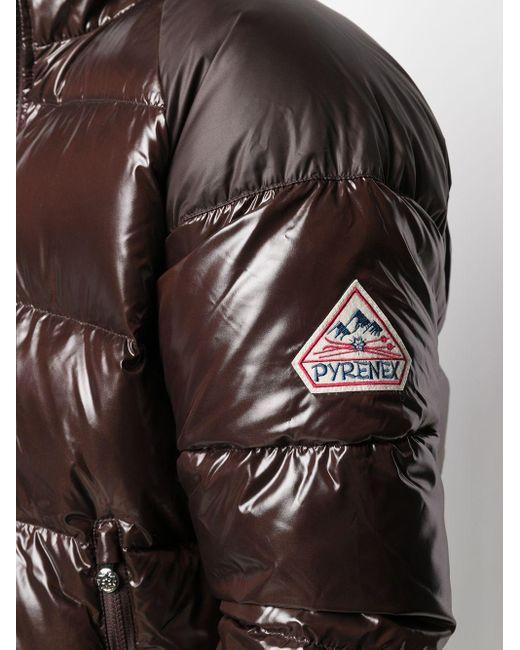 メンズ Pyrenex ロゴ パデッドジャケット Brown
