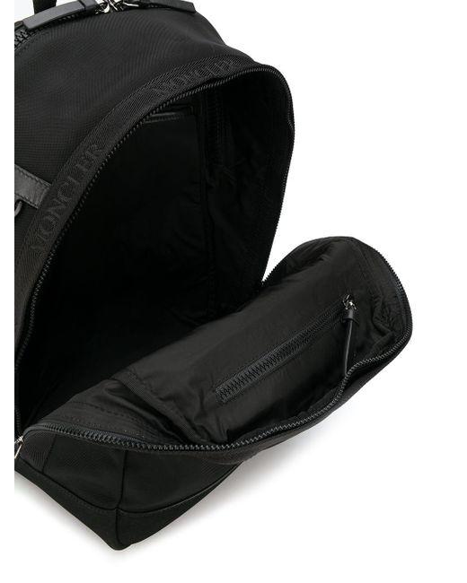Moncler ロゴテープ バックパック Black