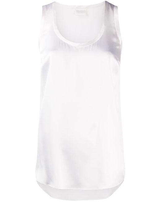 Однотонный Топ Без Рукавов С Круглым Вырезом Brunello Cucinelli, цвет: White
