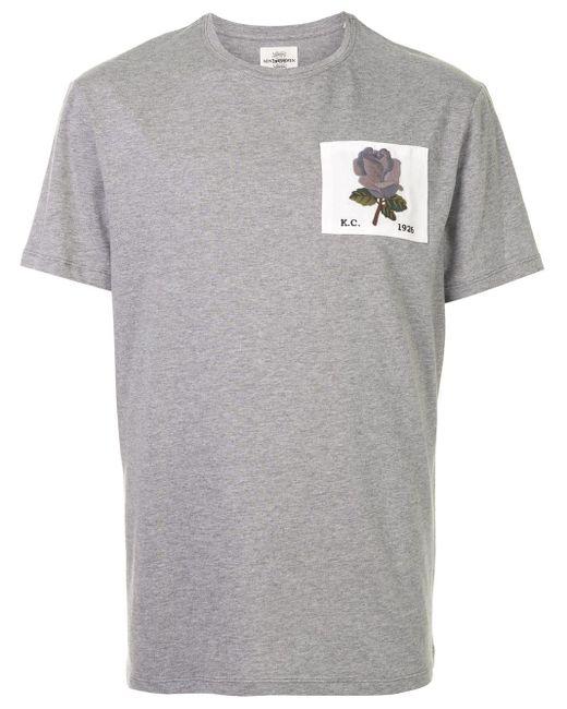 メンズ Kent & Curwen フローラルパッチ Tシャツ Gray