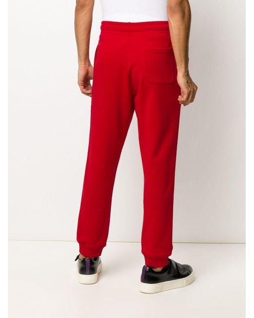 メンズ Moschino ロゴ トラックショーツ Red