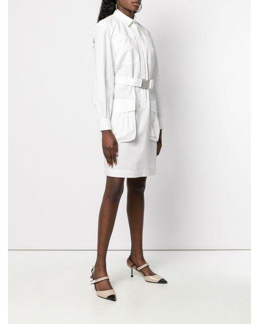 Fendi ベルテッド シャツドレス White