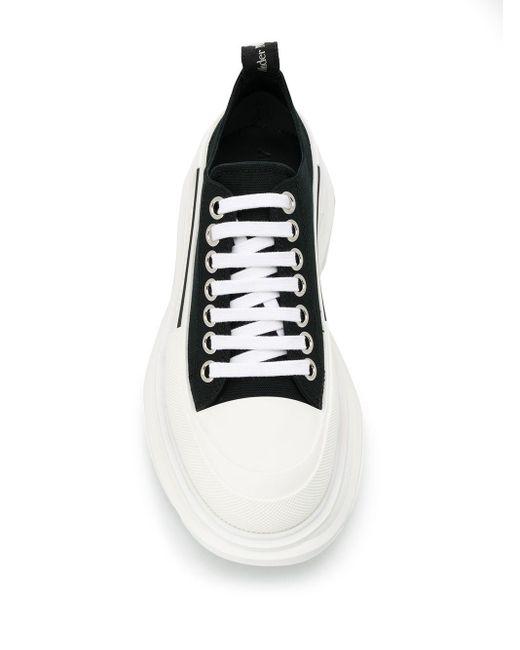 Кроссовки На Плоской Платформе Alexander McQueen, цвет: Black