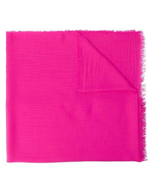 Faliero Sarti フレイドエッジ スカーフ Pink