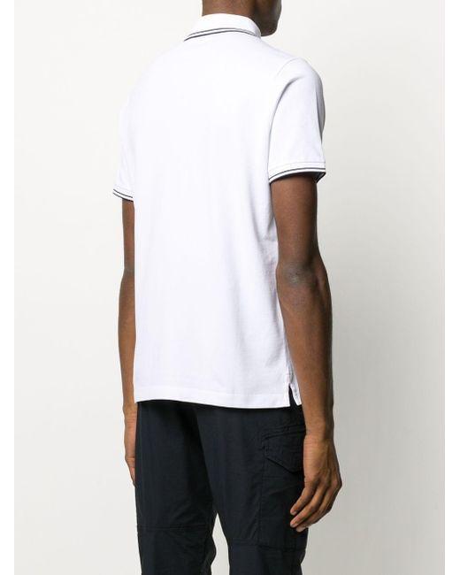 メンズ Stone Island ロゴ ポロシャツ White