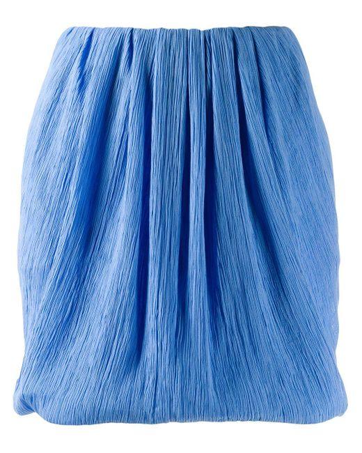 Nina Ricci マイクロプリーツ ミニスカート Blue