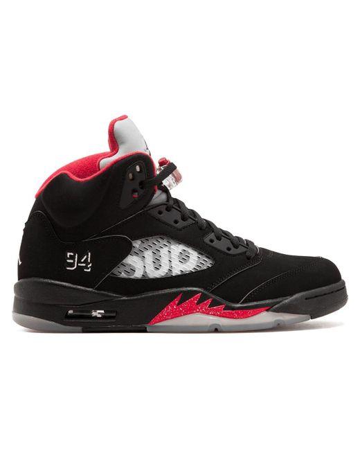 Zapatillas Air Jordan 5 Retro Supreme de hombre de color Black