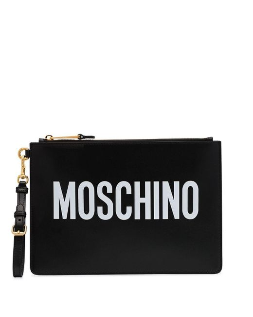 Moschino ロゴ ポーチ Black