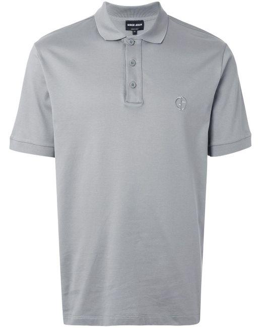 メンズ Giorgio Armani ポロシャツ Gray