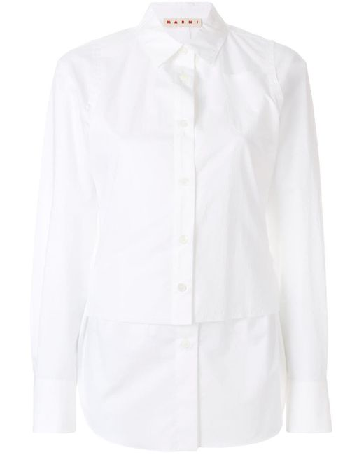 Marni レイヤード シャツ White