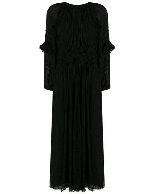 Étoile Isabel Marant ロングスリーブ マキシドレス Black