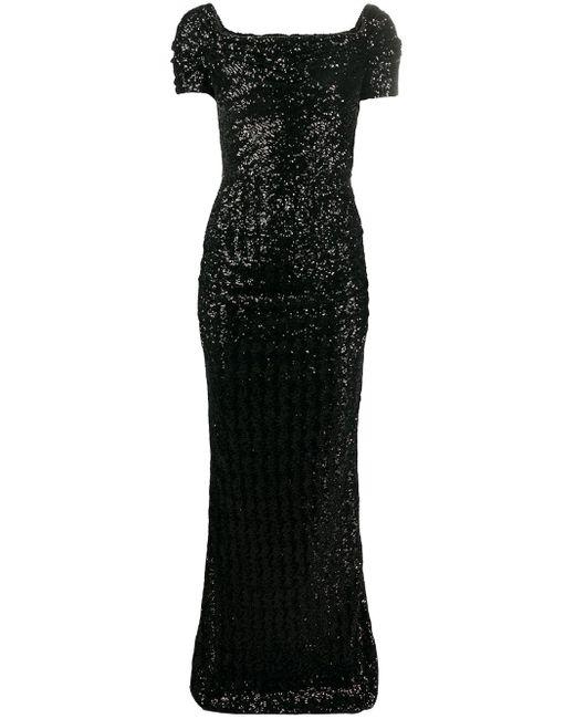 Вечернее Платье С Пайетками Dolce & Gabbana, цвет: Black