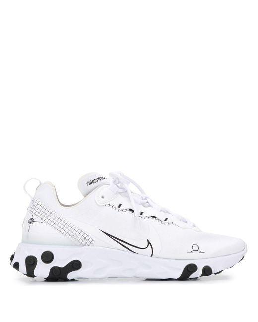 メンズ Nike React Element 55 スニーカー White