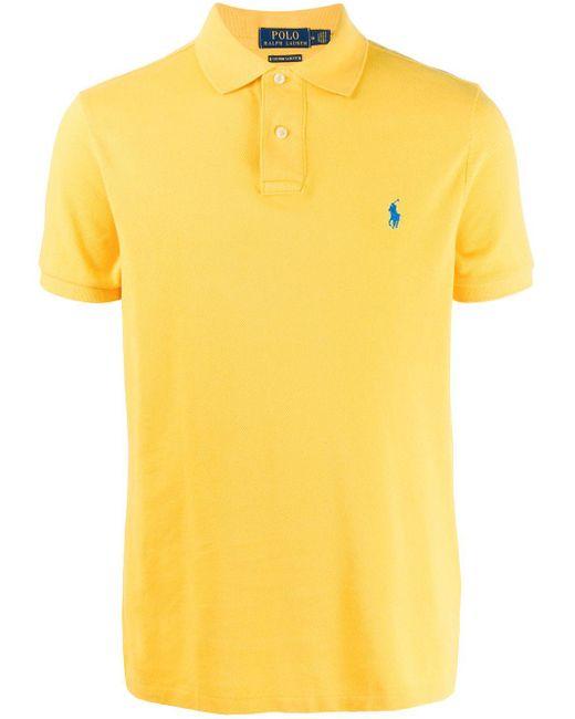 メンズ Polo Ralph Lauren ピケ ポロシャツ Yellow