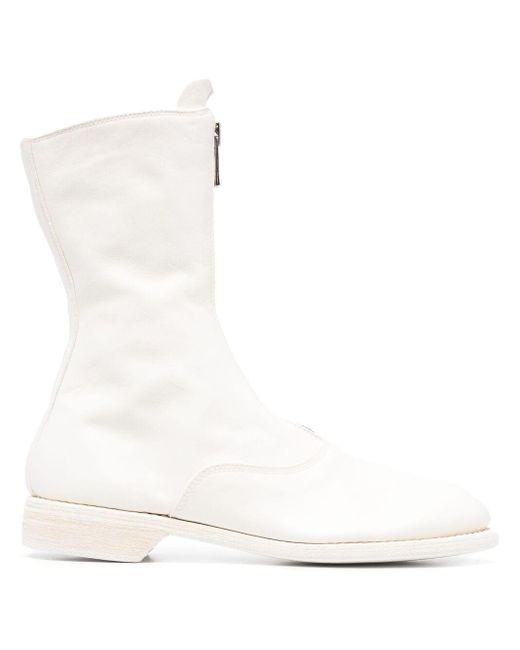 Guidi Pl2 アンクルブーツ White