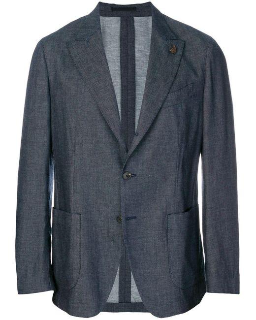 メンズ Gabriele Pasini テーラードジャケット Blue