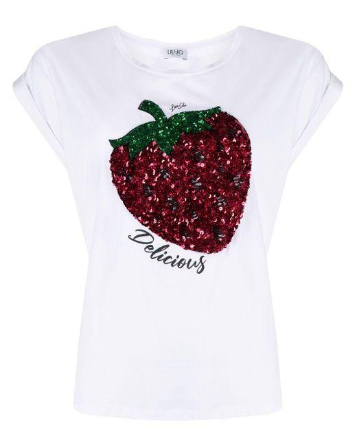 Liu Jo Delicious Tシャツ White