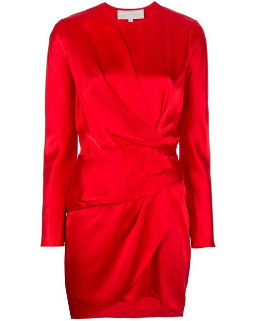 Michelle Mason Origami ミディドレス Red