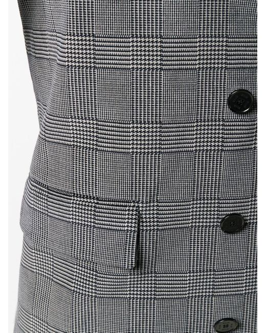 Double Breasted Fitted Jacket MSGM, цвет: Gray