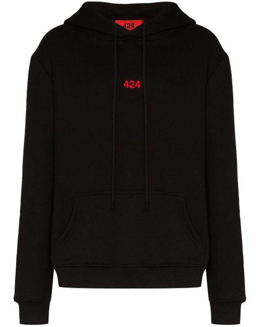 メンズ 424 ロゴ パーカー Black
