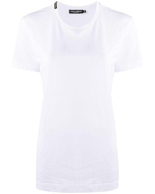 Dolce & Gabbana Camiseta de manga corta con logo de mujer de color blanco 4oA3J