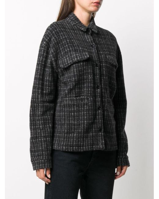 YMC ルーズフィット チェックシャツ Black