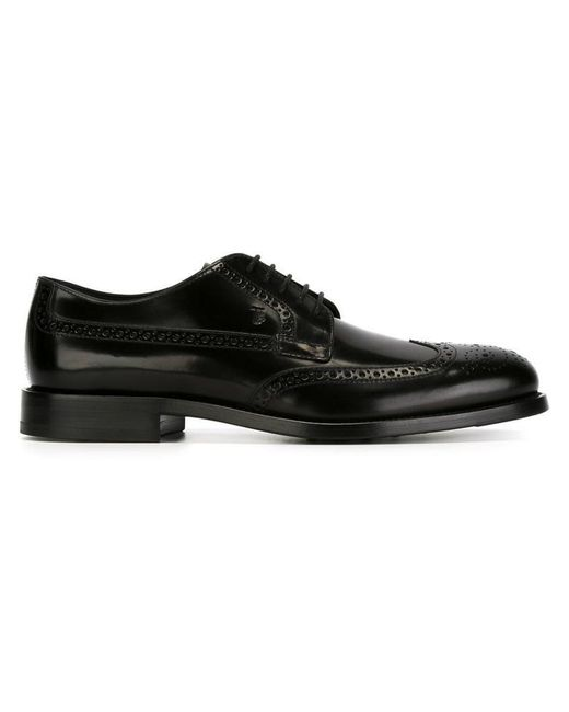 Tod's - Black Classic Brogues for Men - Lyst
