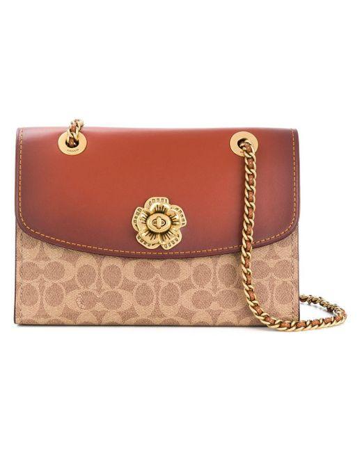 COACH Parker Bi-colour Bag Brown