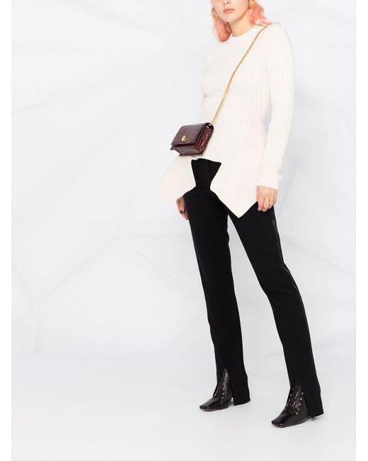 Джемпер Асимметричного Кроя В Рубчик Alexander McQueen, цвет: White