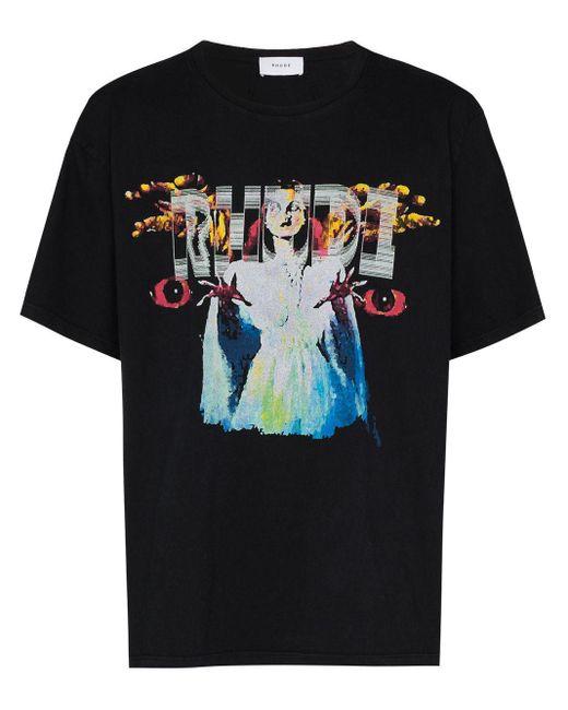 メンズ Rhude コットンtシャツ Black