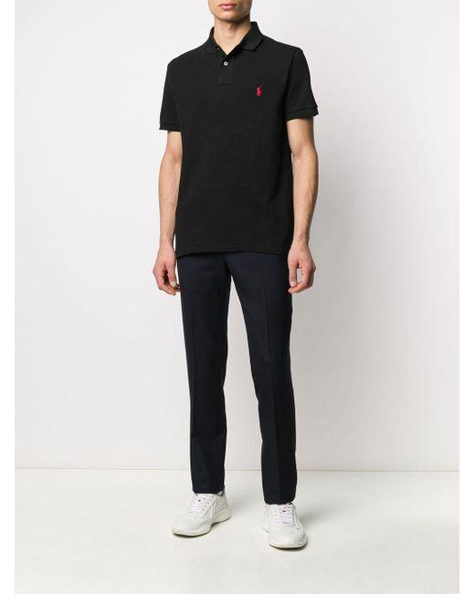 メンズ Polo Ralph Lauren ロゴ ポロシャツ Black