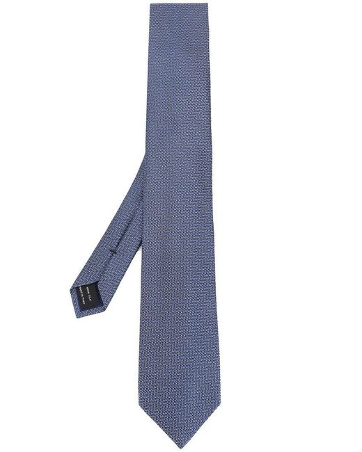 Tom Ford - Blue Jacquard Zigzag Tie for Men - Lyst