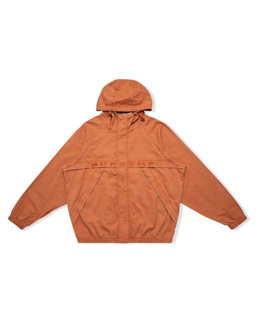 メンズ Supreme オーバーダイ フーデッドジャケット Orange